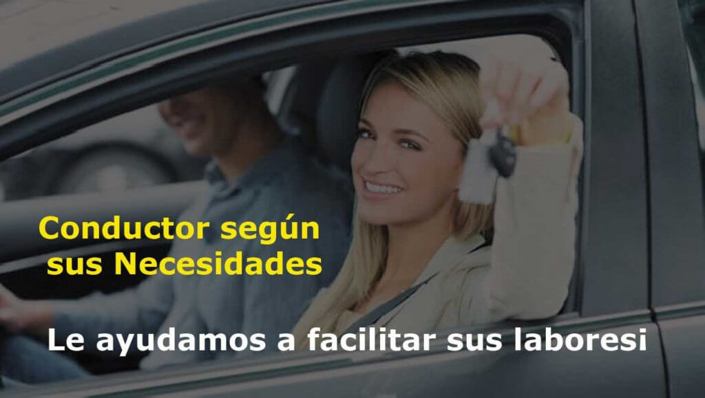 flyer conductor por horas